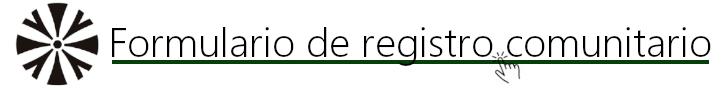 Formulario de registro para comunitarios